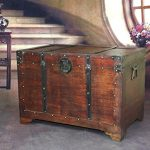 VintiquewiseTM-Old-Fashioned-Wooden-Storage-Treasure-Trunk-0-0