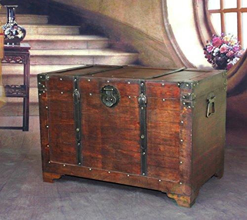 VintiquewiseTM-Old-Fashioned-Wooden-Storage-Treasure-Trunk-0-0