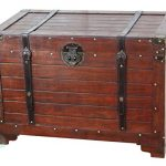 VintiquewiseTM-Old-Fashioned-Wooden-Storage-Treasure-Trunk-0