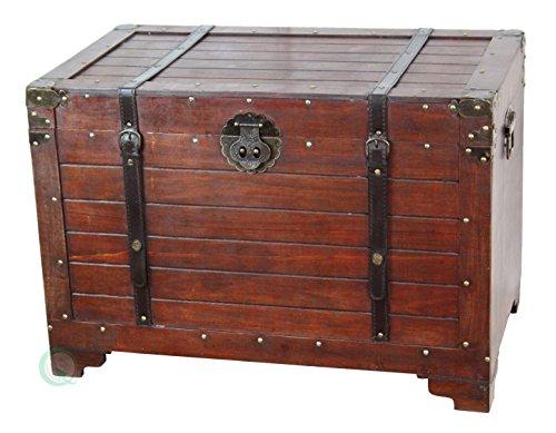 VintiquewiseTM-Old-Fashioned-Wooden-Storage-Treasure-Trunk-0