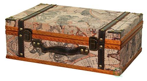 VintiquewiseTM-Old-World-Map-SuitcaseDecorative-Box-0