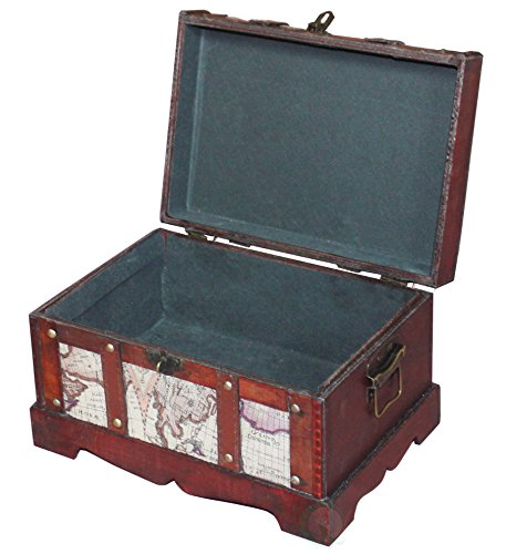 VintiquewiseTM-Old-World-Map-Wooden-TrunkBox-Set-of-2-0-0