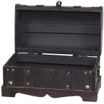 VintiquewiseTM-Small-Pirate-Style-Wooden-Treasure-Chest-0-0
