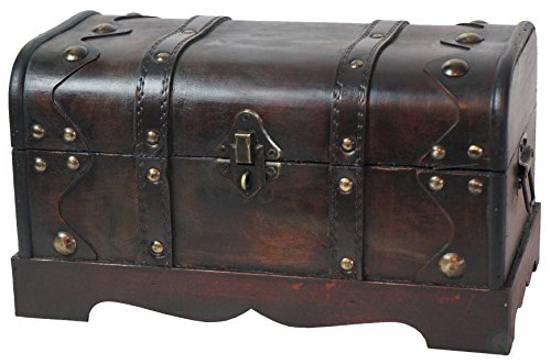 VintiquewiseTM-Small-Pirate-Style-Wooden-Treasure-Chest-0