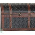 VintiquewiseTM-Wooden-Leather-Treasure-Chest-0