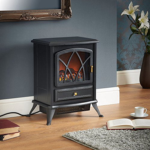 VonHaus-1500W-Electric-Stove-Heater-Portable-Home-Fireplace-with-Log-Burning-Flame-Effect-168W-x-108L-x-20H-inches-Black-0-0