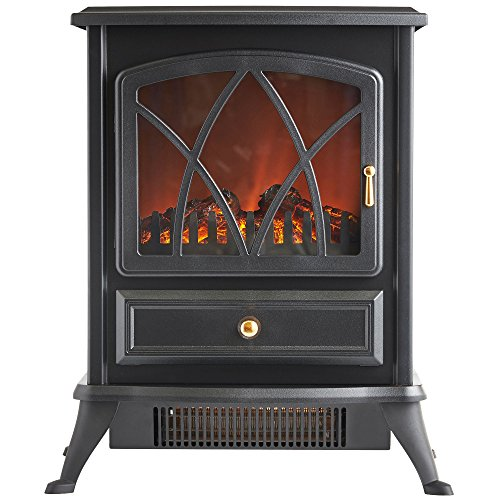VonHaus-1500W-Electric-Stove-Heater-Portable-Home-Fireplace-with-Log-Burning-Flame-Effect-168W-x-108L-x-20H-inches-Black-0-1