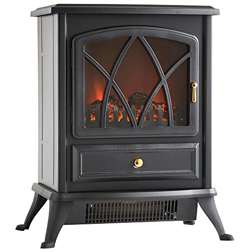 VonHaus-1500W-Electric-Stove-Heater-Portable-Home-Fireplace-with-Log-Burning-Flame-Effect-168W-x-108L-x-20H-inches-Black-0