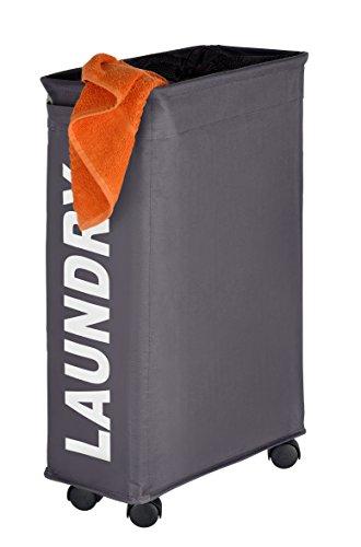 WENKO-3450115100-Laundry-bin-Corno-Grey-laundry-basket-capacity-1136-gal-Polyester-73-x-236-x-157-inch-Dark-grey-0-0