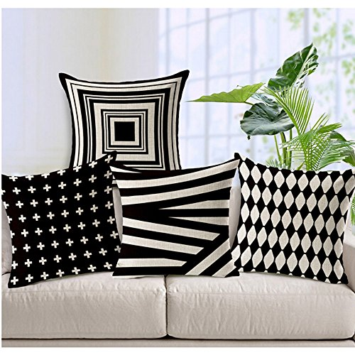 WOMHOPE-4-Pcs-18-Vintage-Style-Cotton-Linen-Square-Throw-Pillow-Case-Decorative-Cushion-Cover-Pillowcase-Cushion-Case-for-SofaBedChairAuto-Seat-0