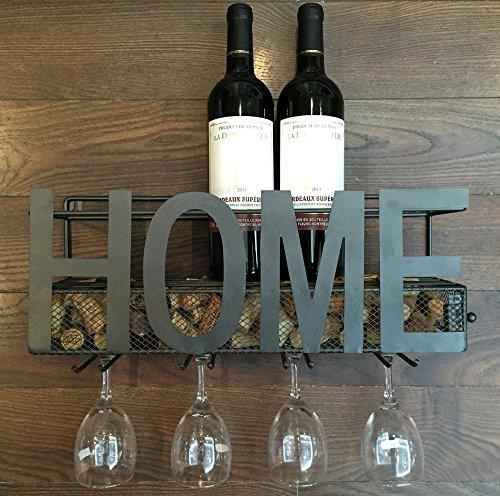 Wall-Mounted-Metal-Wine-Rack-4-Long-Stem-Glass-holder-Wine-Cork-Storage-By-Soduku-0-0