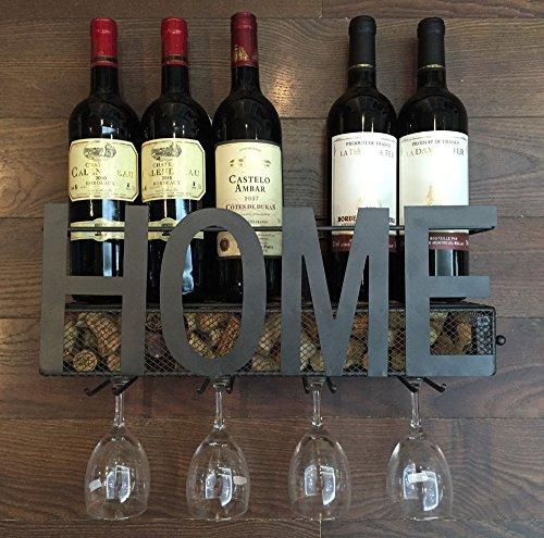 Wall-Mounted-Metal-Wine-Rack-4-Long-Stem-Glass-holder-Wine-Cork-Storage-By-Soduku-0