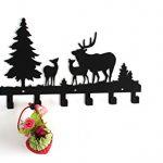 Wander-Agio-Deer-Tree-Forest-Elk-Cartoon-Animal-Metal-Wall-Mounted-Bag-Hanger-Coat-Rack-Clothing-Hooks-Hanging-Racks-Black-0-0