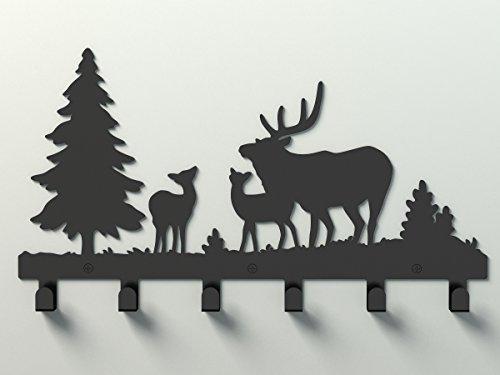 Wander-Agio-Deer-Tree-Forest-Elk-Cartoon-Animal-Metal-Wall-Mounted-Bag-Hanger-Coat-Rack-Clothing-Hooks-Hanging-Racks-Black-0