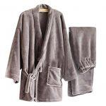 Warm-Flannel-Mens-Kimono-Pajamas-Khan-Steamed-ClothesGray-0