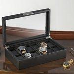 Watch-Box-for-Men-12-Slot-Luxury-Carbon-Fiber-Design-Display-Case-Large-Holder-Metal-Buckle-Black-0-1