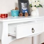 White-Finish-Curved-Legs-Accent-Console-Sofa-Table-with-Two-Drawer-0-0