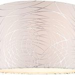 White-with-Silver-Circles-Drum-Shade-15x16x11-Spider-0-1