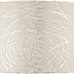 White-with-Silver-Circles-Drum-Shade-15x16x11-Spider-0