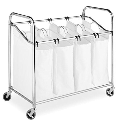 Whitmor-4-Section-Laundry-Bag-Sorter-Chrome-White-0