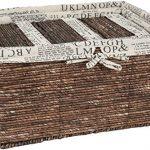 Wicker-Home-Decorative-Storage-Organizer-Baskets-5-Piece-Set-3-small-at-1025x6x5-Medium-155x12x65-Large-17x1325x7-Inches-0-0