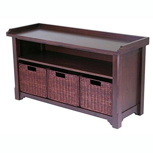 Winsome-Verona-Storage-Bench-Walnut-with-Fabric-Baskets-0