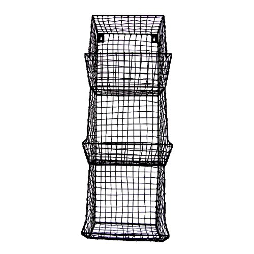Wire-Wall-3-Storage-Bin-FruitVegetable-Basket-Primitive-Rustic-Farmhouse-Decor-0-0