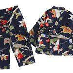 Womens-AutumnWinter-Pajamas-Sweet-Kimono-Pajamas-Cotton-and-Linen-Tracksuit-0