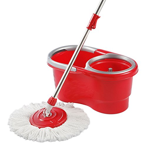 Woodsam-Magic-Spin-Mop-Bucket-Included-2017-Lightweight-Ergonomic-Design-Cleans-Perfectly-All-The-Surfaces-0