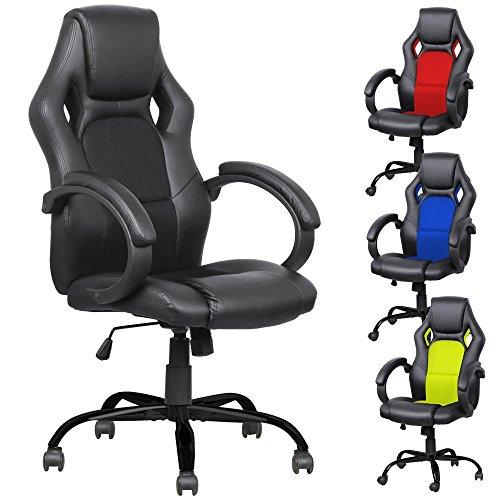 Yaheetech-Adjustable-High-Back-Gaming-Racing-Car-Style-Swivel-Tilt-Chair-0