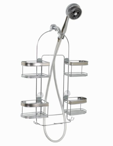 ZPC-Zenith-Products-Premium-Expandable-Shower-Caddy-for-Hand-Held-Shower-or-Tall-Bottles-0