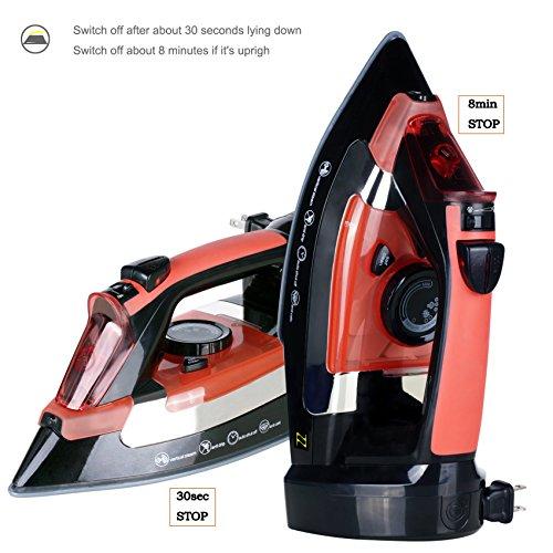 ZZ-ES2346RRB-Advantage-1400-Watt-Steam-Iron-with-Non-stick-Ceramic-Soleplate-Red-0-0