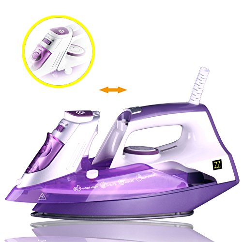 ZZ-ES391-P-1500-Watt-Steam-Iron-with-Stainless-Steel-Soleplate-and-Detachable-Water-Tank-Purple-0-0