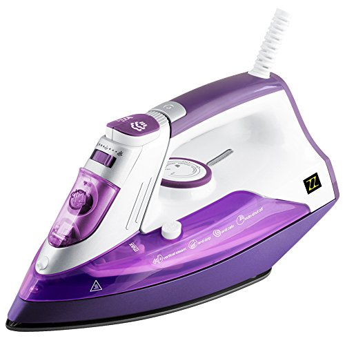 ZZ-ES391-P-1500-Watt-Steam-Iron-with-Stainless-Steel-Soleplate-and-Detachable-Water-Tank-Purple-0