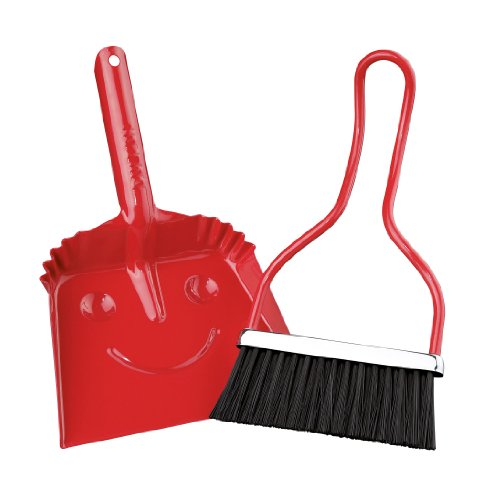 Zassenhaus-Smiley-Dustpan-and-Brush-Set-With-Smiley-Face-Design-on-Underside-Metal-Various-Colors-0