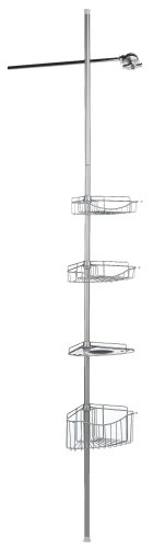 Zenna-Home-2120BC-Tension-Corner-Pole-Caddy-Satin-Nickel-0-0