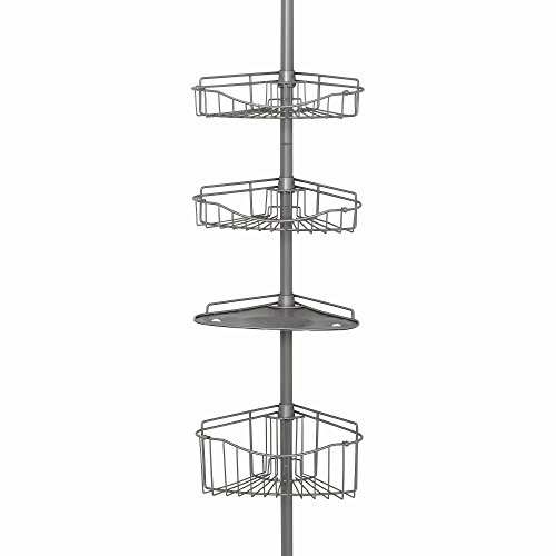 Zenna-Home-2120BC-Tension-Corner-Pole-Caddy-Satin-Nickel-0