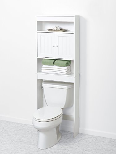 Zenna-Home-9119W-Cottage-Collection-Bathroom-Spacesaver-White-0-0
