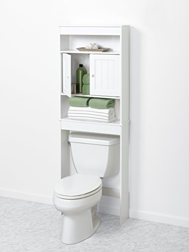 Zenna-Home-9119W-Cottage-Collection-Bathroom-Spacesaver-White-0-1