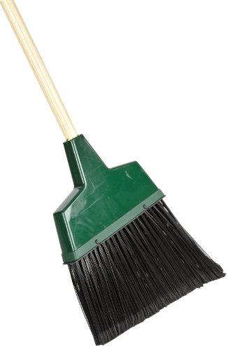 Zephyr-55675-GreenPro-Large-Angle-Broom-with-Wood-Handle-13-Head-Width-56-Overall-Length-Green-Case-of-6-0