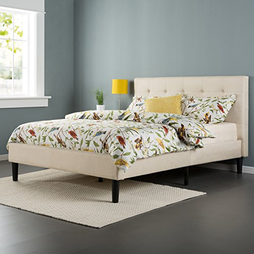 Zinus-Upholstered-Button-Tufted-Platform-Bed-with-Wooden-Slats-0-1