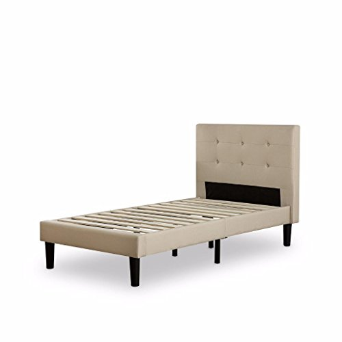 Zinus-Upholstered-Button-Tufted-Platform-Bed-with-Wooden-Slats-0