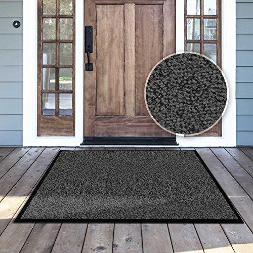 casa-pura-Dirt-Trapper-Entrance-Mat-AnthraciteMottled-Multiple-Sizes-Non-slip-Backing-IndoorOutdoor-0-1
