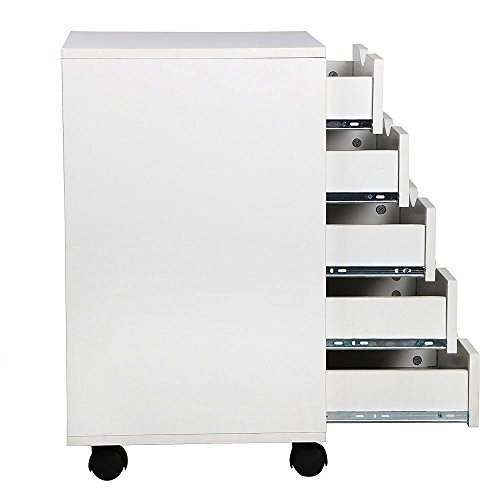 go2buy-5-Drawer-File-Storage-Cabinet-on-Removable-Caster-Wheels-White-0-1