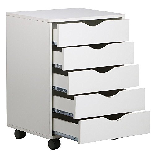 go2buy-5-Drawer-File-Storage-Cabinet-on-Removable-Caster-Wheels-White-0