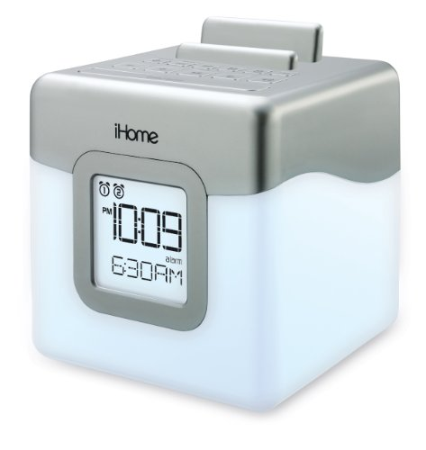 iHome-IHM28W2-Color-Changing-Alarm-Clock-FM-Radio-with-USB-Charging-0-0
