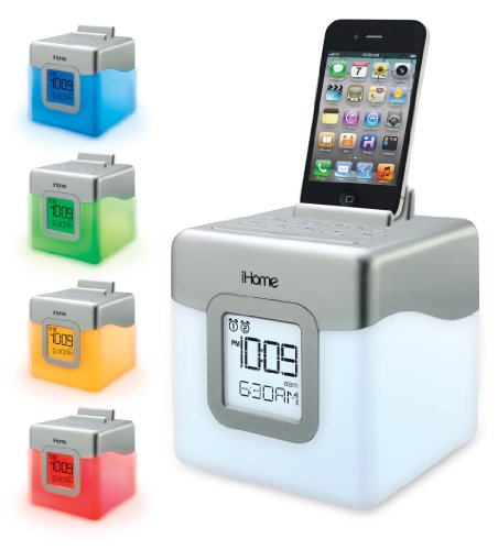 iHome-IHM28W2-Color-Changing-Alarm-Clock-FM-Radio-with-USB-Charging-0-1