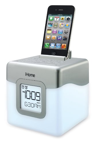 iHome-IHM28W2-Color-Changing-Alarm-Clock-FM-Radio-with-USB-Charging-0