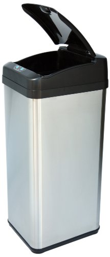 iTouchless-It13MXP-Extra-Wide-Stainless-Steel-Automatic-Sensor-Touchless-Trash-Can-13-Gallon-0