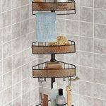 mDesign-Bathroom-Shower-Tension-Caddy-for-Shampoo-Conditioner-Soap-SandBronze-0-0